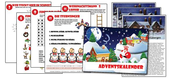 Adventskalender Weihnachten Kinder