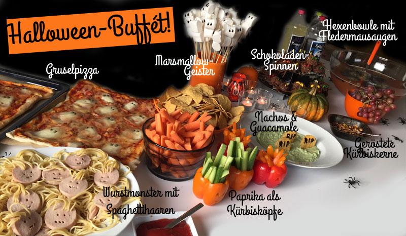 halloween buffet halloween idee f r snacks f r kinder. Black Bedroom Furniture Sets. Home Design Ideas