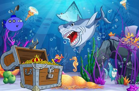 kindergeburtstag spiele in der unterwasserwelt