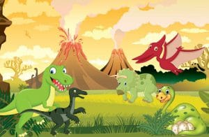 kindergeburtstag dinosaurien